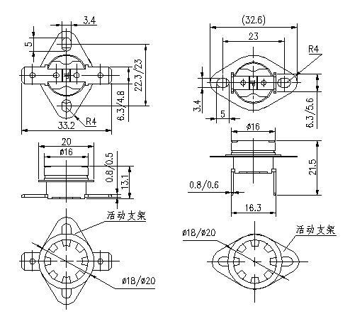 ksd301温控开关价格_原理_接线图